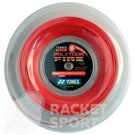 Струна для тенниса Yonex Poly Tour Fire Red (200m)